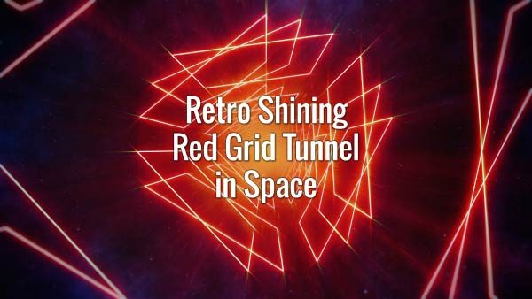 Seamlessly looping glowing endless grid roads in dark space. Animated background.