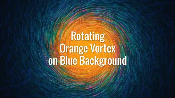 Seamlessly looping orange swirling tunnel. Animated background.