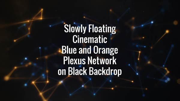 Seamlessly looping blue and yellow floating lines, triangles and particles. Animated background.
