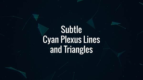Seamlessly looping floating cyan lines, triangles and particles. Animated background.