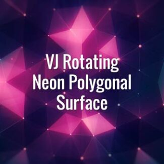 VJ Rotating Neon Polygonal Surface