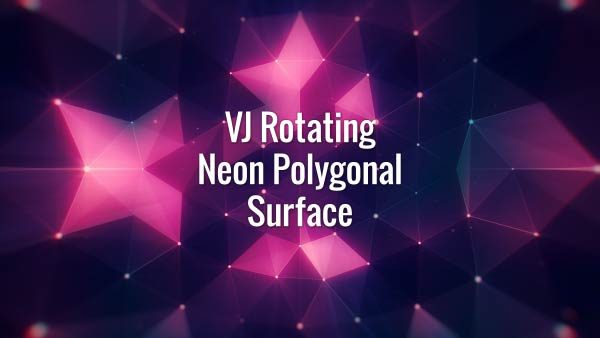Seamlessly looping floating purple neon VJ polygons, lines, triangles and particles. Animated backdrop.