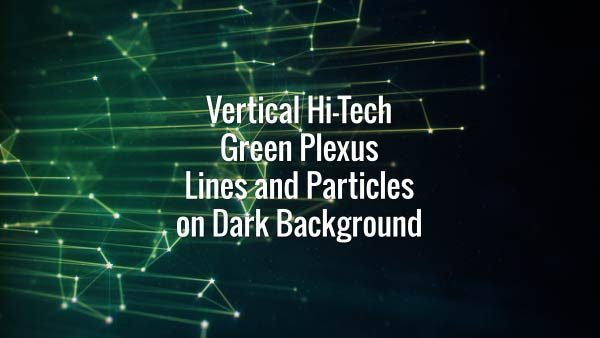 Seamlessly looping floating vertical green lines, squares and particles. Animated backdrop.