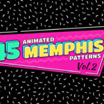 45 Animated Memphis Patterns Vol.2