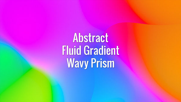 Seamlessly looping multicolored flowing gradient abstract waves. Animated background.
