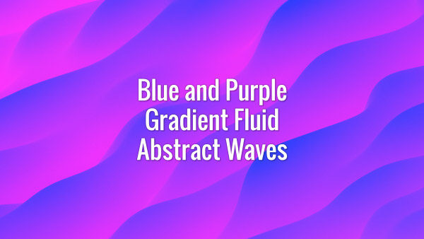 Seamlessly looping gradient purple and blue slowly flowing waves. Animated background.