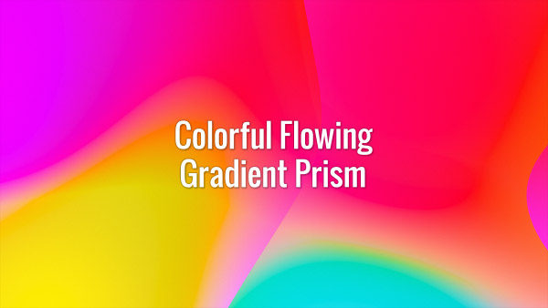 Seamlessly looping multicolored flowing gradient abstract prism waves. Animated background.