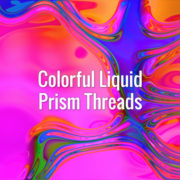 Seamlessly looping iridescent flowing refracting threads on colorful backdrop. Animated background.