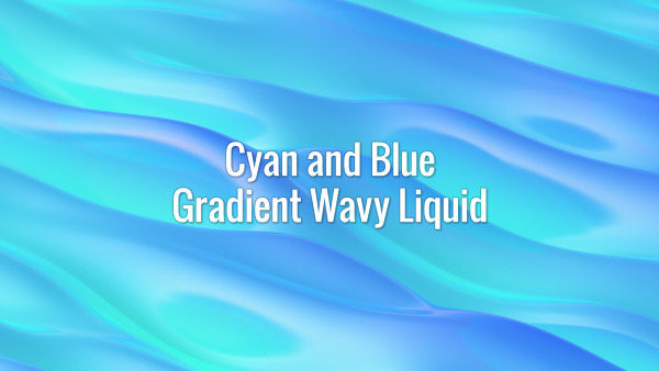 Seamlessly looping blue and cyan flowing gradient waves. Animated background.