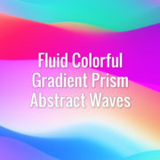 Seamlessly looping multi-colored flowing gradient abstract waves. Animated background.