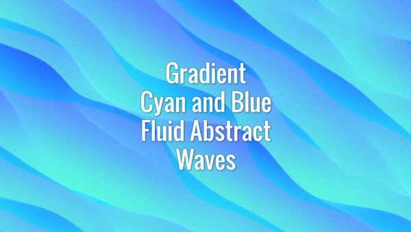 Seamlessly looping cyan and blue flowing gradient waves. Animated background.