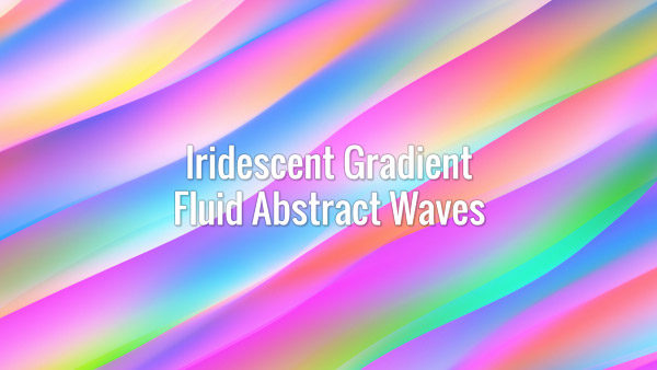 Colorful abstract fluid prism ripples. Seamlessly looping animated background.
