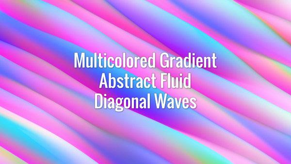 Seamlessly looping iridescent skewed flowing gradient waves. Animated background.