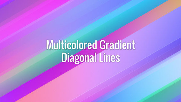 Seamlessly looping iridescent skewed flowing gradient lines. Animated background.