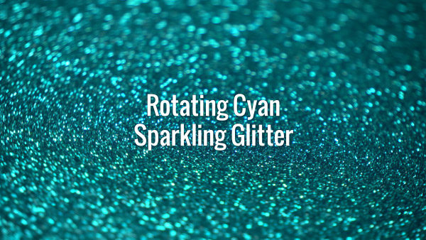 Seamlessly looping spinning flickering turquoise glitter bokeh.