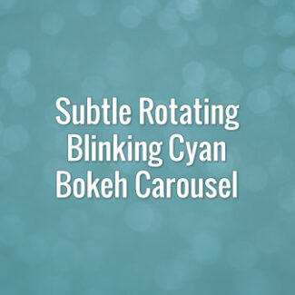 Seamlessly looping rotating flickering turquoise bokeh carousel.