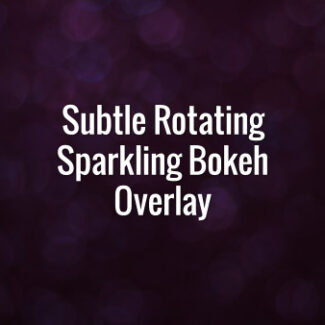 Seamlessly looping spinning flickering purple glitter bokeh particles.