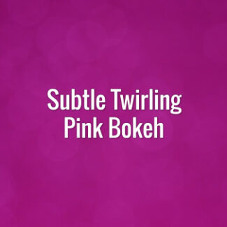 Seamlessly looping spinning pink bokeh particles.