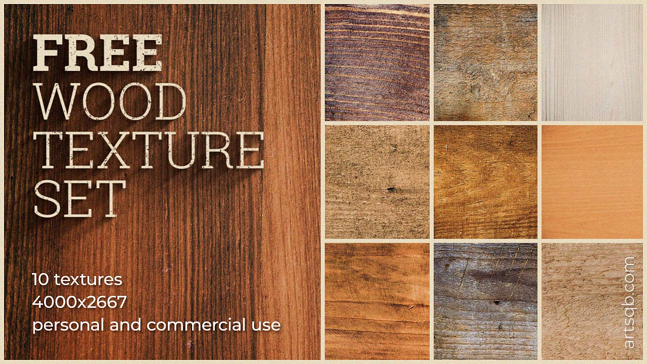 Free Wood Texture Set by Artyom Saqib