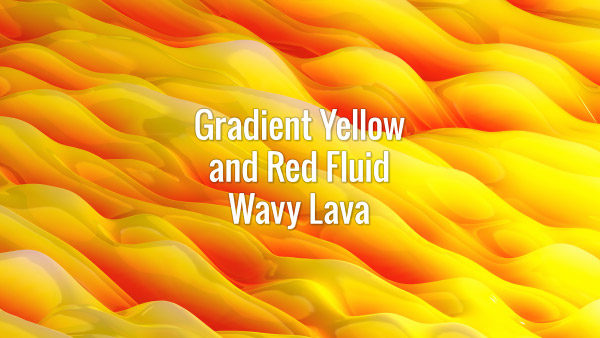 Seamlessly looping gradient yellow and red slowly flowing magma waves. Animated background.