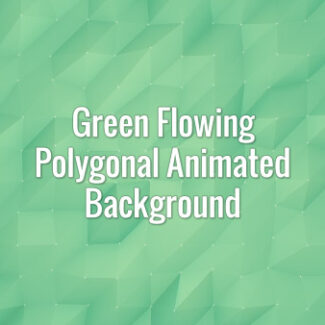 Seamlessly looping flowing green polygonal surface. Animated background.