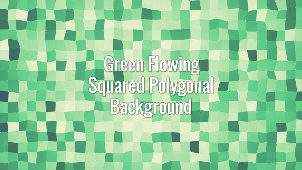 Seamlessly looping flowing green square surface. Animated background.