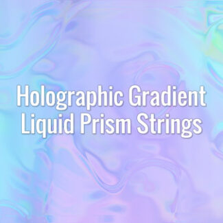 Flowing holographic fluid iridescent prism threads. Seamlessly looping animated background.