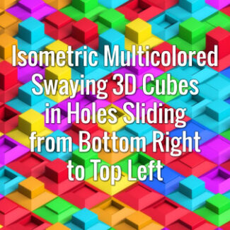 Seamlessly looping colorful cubes oscillating in holes sliding from bottom right to top left. Animated background.
