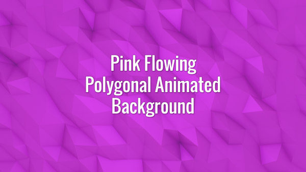 Seamlessly looping flowing pink polygonal surface. Animated background.