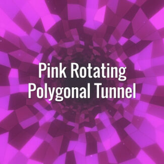 Seamlessly looping rotating pink polygonal tunnel. Animated background.