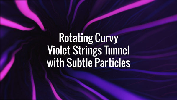 Seamlessly looping violet wavy lines tunnel on dark backdrop. Animated background.