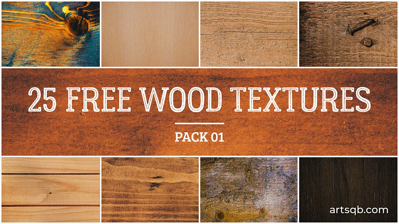25 Free Wood Textures: Pack 01