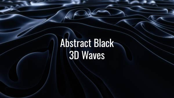 Seamlessly looping slowly flowing dark liquid 3D substance. Animated background.