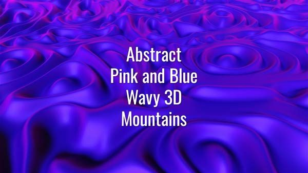 Seamlessly looping slowly flowing 3D purple liquid waves. Animated background.