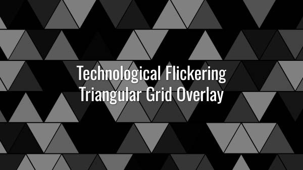 Seamlessly looping hi-tech futuristic blinking triangular grid. Animated overlay.