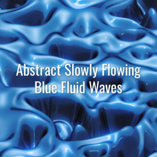 Seamlessly looping slowly moving blue 3D liquid substance. Animated background.