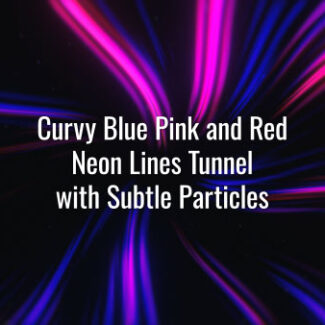 Seamlessly looping pink blue and red glowing neon lines and subtle particles. Animated twirl background.