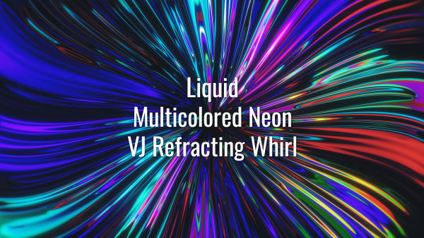 Seamlessly looping vibrant neon substance. Animated twirl background.