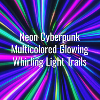 Seamlessly looping vibrant neon lines. Animated cyberpunk background.