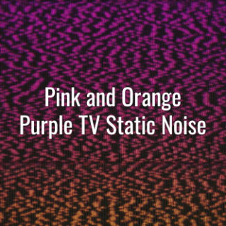 Seamlessly looping orange and pink gradient bad signal TV static noise and scan line.