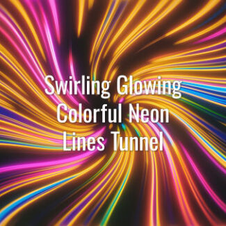 Seamlessly looping multicolored shining neon lines. Animated twirl background.