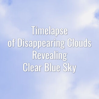 Time-lapse video of dissolving white clouds on a summer day